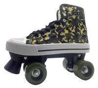 Roces Boys Casual Quad Roller Skates Camouflage Camo Front Stopper Sneaker Style
