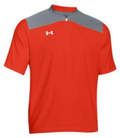 Under Armour Mens Triumph Cage Short Sleeve Jacket Baseball Batting Color Choice