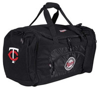 "Northwest MLB Minnesota Twins Roadblock Duffle Duffel 20""x 11.5"" Pockets"