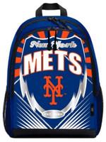 """Northwest MLB New York Mets Lightning Backpack 16.5""""x 12"""" Childrens NYC NY"""
