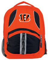 "Northwest NFL Cincinnati Bengals Captains Backpack 18.5""x 13"" Front Pocket Ohio"
