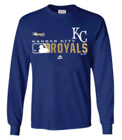 Majestic Men MLB Kansas City Royals Distinction Tee T-Shirt Long Sleeve Baseball