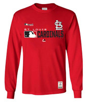 Majestic Mens MLB St Louis Cardinals Distinction Tee T-Shirt L/S Baseball MO