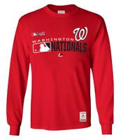 Majestic Mens MLB Washington Nationals Distinction Tee T-Shirt L/S Baseball