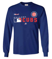 Majestic Mens MLB Chicago Cubs Distinction Tee T-Shirt Long Sleeve Baseball IL