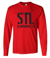 Fanatics Mens MLB St Louis Cardinals Dash Abbreviation Tee T-Shirt L/S Baseball