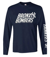 Fanatics Mens MLB New York Yankees Slanted Slogan Tee T-Shirt L/S Baseball NYC
