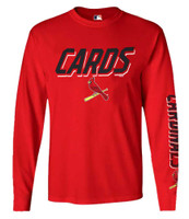 Fanatics Mens MLB St Louis Cardinals Slanted Slogan Tee T-Shirt L/S Baseball MO