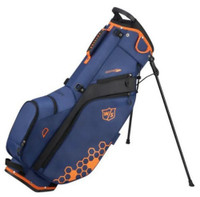 Wilson Staff Feather Carry Bag Straps 5 Divider 9.5x7 Top Rain Hood Blue/Orange