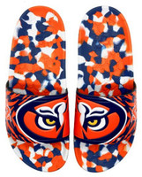 Hype Unisex Auburn University Collegiate Slydr Slide Sandal Shoe Beach Shower