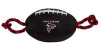 Pets First Atlanta Falcons Tough Nylon Rope & Squeaker Football Dog Toy - Black