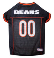Pets First NFL Chicago Bears Screen Printed Mesh Dog Jersey - Navy Blue