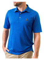 Southern Seam Kenzley Striped Short Sleeve Golf Polo Shirt - Double Blue