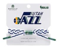 Rastaclat Basketball Utah Jazz Away Colors Braided Bracelet - White & Navy