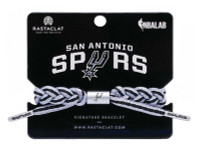 Rastaclat Basketball San Antonio Spurs Home Braided Bracelet - Gray & Black