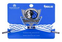 Rastaclat Basketball Dallas Mavericks Home Braided Bracelet - White & Blue