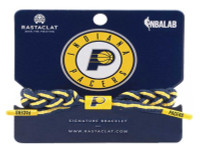 Rastaclat Basketball Indiana Pacers Alternate Braided Bracelet - Navy & Yellow