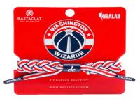 Rastaclat Basketball Washington Wizards Away Braided Bracelet - White & Navy