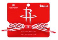 Rastaclat Basketball Houston Rockets Home Braided Bracelet - White & Red