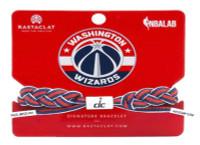 Rastaclat Basketball Washington Wizards Alternate Braided Bracelet- Navy & White