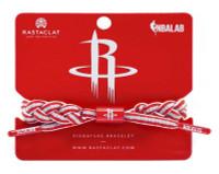Rastaclat Basketball Houston Rockets Alternate Braided Bracelet - Red & Gray
