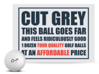 Cut Golf Cut Grey 3 Piece Urethane Pro Golf Balls (12 Pack) – White