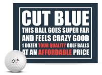 Cut Golf Cut Blue 4 Piece Urethane Pro Golf Balls (12 Pack) – White