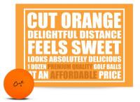 Cut Golf Cut Matte 3 Piece Ionomer Pro Golf Balls (12 Pack) – Orange