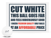 Cut Golf Cut Matte 3 Piece Ionomer Pro Golf Balls (12 Pack) – White