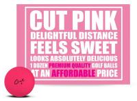 Cut Golf Cut Matte 3 Piece Ionomer Pro Golf Balls (12 Pack) –  Pink