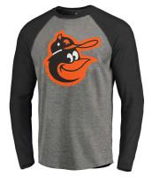 Fanatics Men's MLB Baltimore Orioles Jumbo Logo Long Sleeve Crew Neck T-Shirt