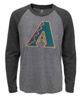 Fanatics Men's MLB Arizona Diamondbacks Jumbo Logo Long Sleeve Crew Neck T-Shirt