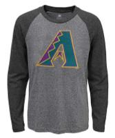 Fanatics Men's MLB Arizona Diamondbacks Jumbo Logo Long Sleeve Crew Neck T-Shirt