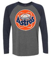 Fanatics Men's MLB Houston Astros Jumbo Logo Long Sleeve Crew Neck T-Shirt, Gray