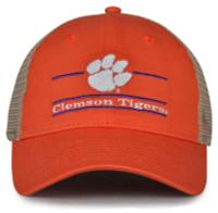 The Game Clemson University Tigers Paw Logo Split Bar Adjustable Cap – Orange