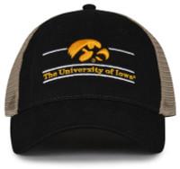The Game University of Iowa Hawkeyes Hawk Logo Split Bar Adjustable Cap – Black