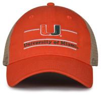 The Game University of Miami Hurricanes U Logo Split Bar Adjustable Cap – Orange