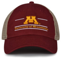 The Game University of Minnesota Golden Gophers M Logo Split Bar Adjustable Cap