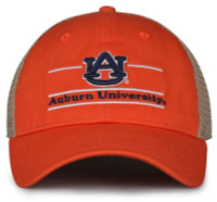 The Game Auburn University Tigers AU Logo Split Bar Adjustable Cap – Orange