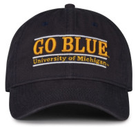 The Game University of Michigan Wolverines Go Blue Bar Design Adjustable Cap