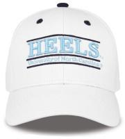The Game University of North Carolina Tar Heels 'Heels' Bar Adjustable Cap–White