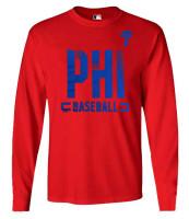 Fanatics Men's MLB Philadelphia Phillies Dash Abbreviation Long Sleeve T-Shirt