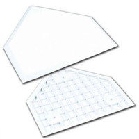 CHAMPRO SPORTS Home Plate Waffle Bottom With Spikes. White Rubber B032