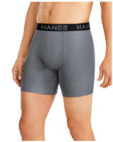 Hanes Men's Ultimate Comfort Flex Fit Total Support Pouch Boxer Brief 4-Pack
