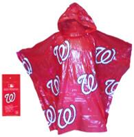 Storm Duds Washington Nationals Lightweight Adult Adjustable Hood Rain Poncho