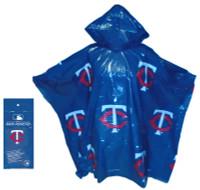 Storm Duds Minnesota Twins Lightweight Stadium Adult Adjustable Hood Rain Poncho
