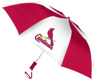 Storm Duds St Louis Cardinals 48 inch Automatic Folding Umbrella – Red/White