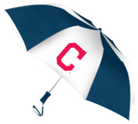 Storm Duds Cleveland Indians 48 inch Automatic Folding Umbrella – Navy/White