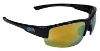 Optic Nerve Chicago Cubs Hot Corner Sunglasses - Black Frame & Mirrored Lenses