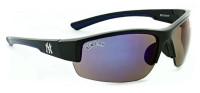 Optic Nerve New York Yankees Hot Corner Sunglasses - Blue Mirrored Lenses